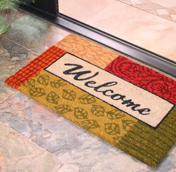 tapete de coco para entrada